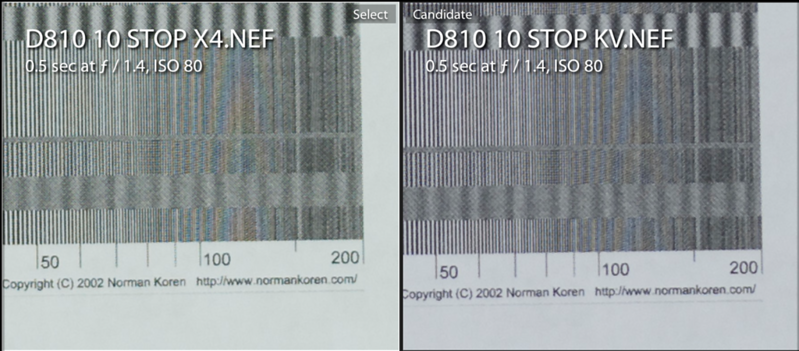 IRND Sharpness Comparison - D810 (Stock)