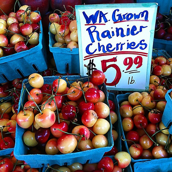Cherries #forsale, Pike Place Market, Seattle #frifotos