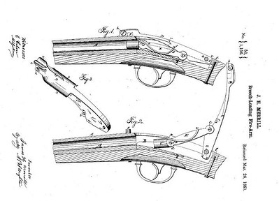 20,954 RE 1156 - Improvement in Firearms, assigned to the Merrill Patent Firearms Mfg Co (March 26, 1861)