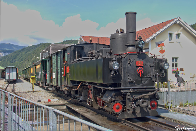 Steam locomotive U25 Bezau (built in 1902) 
