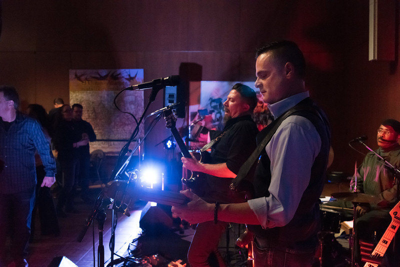 01/04/19  Wesley Bunnell | Staff  Members of The Michael Cleary Band play at the New Britain Museum of American Art during the museums First Friday event.