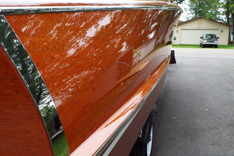 Rear starboard side.