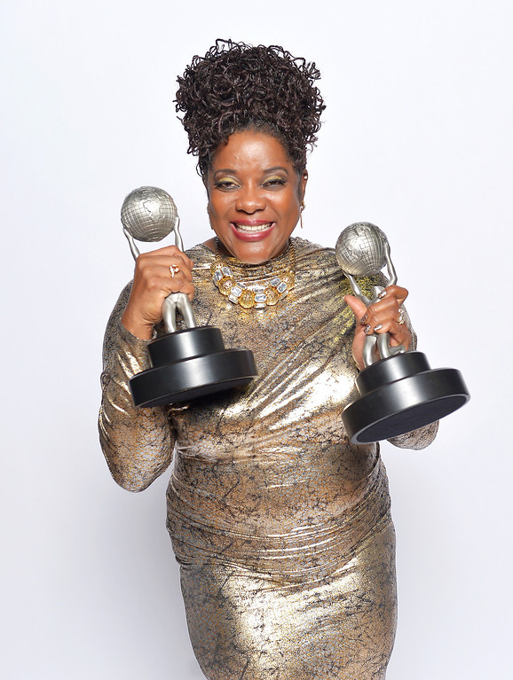 ". LOS ANGELES, CA - FEBRUARY 01:  Actress Loretta Devine, winner of Outstanding Supporting Actress in a Drama Series for ""Grey\'s Anatomy\"", poses for a portrait during the 44th NAACP Image Awards at The Shrine Auditorium on February 1, 2013 in Los Angeles, California.  (Photo by Charley Gallay/Getty Images for NAACP Image Awards)"