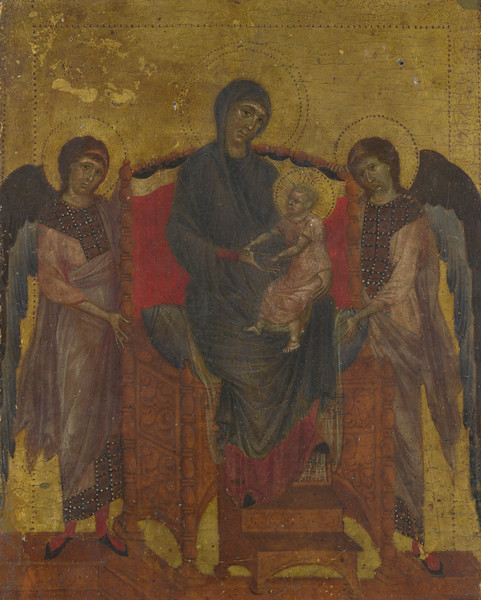 The Virgin and Child Enthroned with Two Angels
