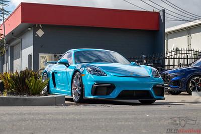 Porsche GT4 - Miami Blue - Front End PPF