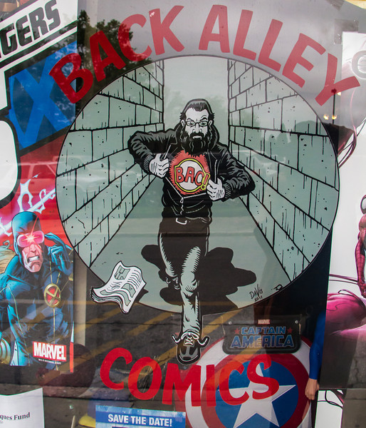 Comics through the windows
