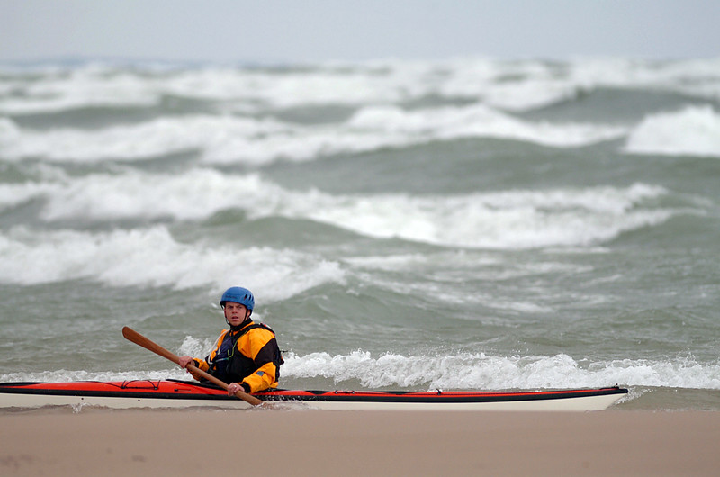 Kayaking, Lake Michigan, South Haven, MI