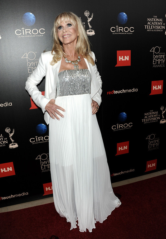 . Britt Ekland arrives at the 40th Annual Daytime Emmy Awards on Sunday, June 16, 2013, in Beverly Hills, Calif. (Photo by Richard Shotwell/Invision/AP)