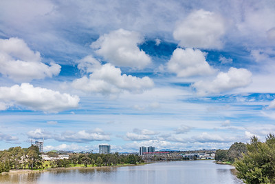 Clouds over Lake Ginninderra 2016-09-25