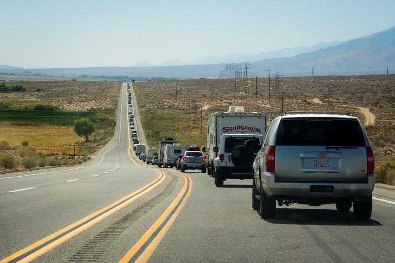 September 5 - Logjam on 395 near Lone Pine, CA.jpg