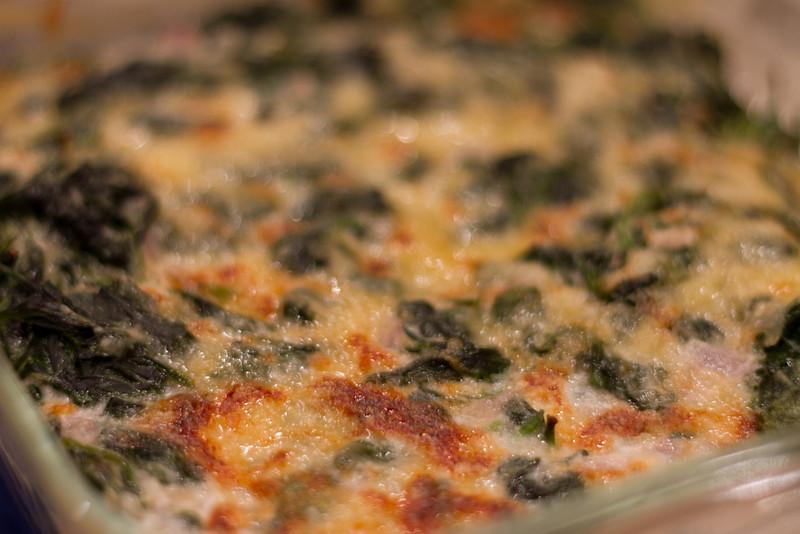 Jared's wonderful creamed spinach creation