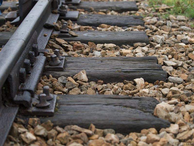 Simple rail lines, but what they carried was people treated as cattle on their way to a quick death or months of suffering. (Foto: Geir)
