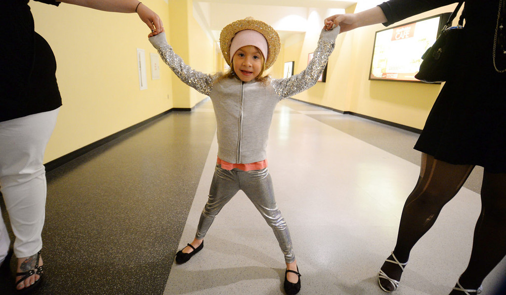 . Promyse Bielse, 6, from Hurtle, Wis., poses for a photo before the show.   (Pioneer Press: John Autey)