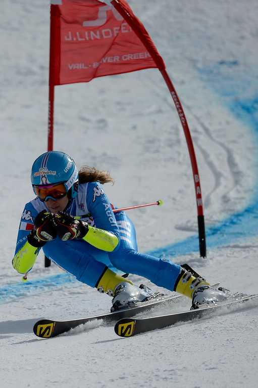 . BEAVER CREEK, CO - FEBRUARY 12: Marta Bassino of Italy competes  during the ladies\' giant slalom. FIS Alpine World Ski Championships 2015 on Thursday, February 12, 2015. (Photo by AAron Ontiveroz/The Denver Post)