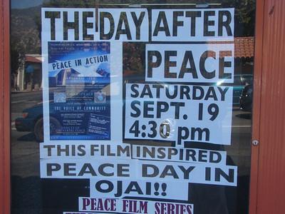 LIVING PEACE of  OJAI, Libbey Park, Ojai, California 9/19/09