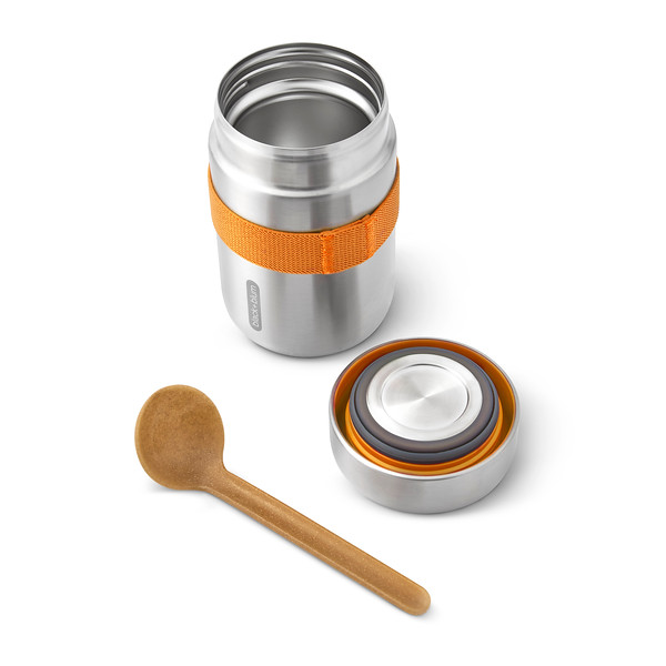 BAM-FFB-S003_Food Flask_open with lid and spoon_Orange.jpg