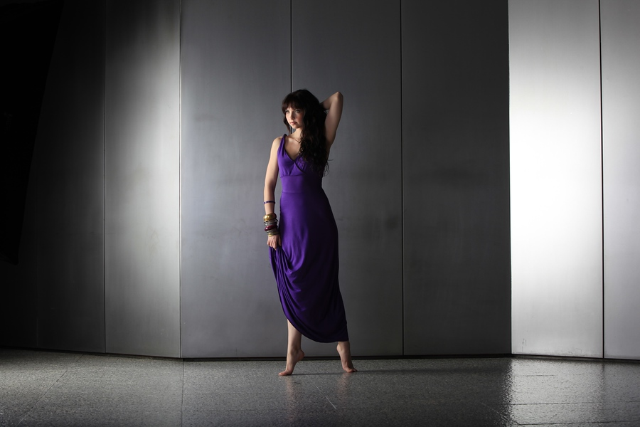 Dancer in purple