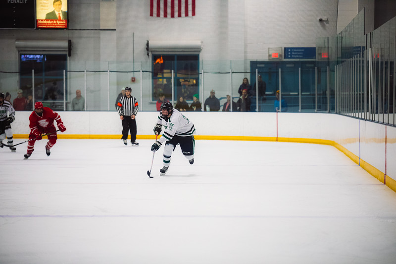 Holy Family Boys Varsity Hockey vs. Benilde-St. Margaret's, 12/26/19: Jacob McPartland '21 (12)