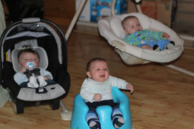 Twins' First Playdate with Cooper Andrews (December 2012)