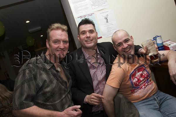 Charity Night in aid of Macmillan Nurses in the Armagh Down Bar on Saturday last.Paul Marron, Raymond Loughran,Darkie Hughes.10W45N711