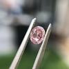 .34ct Fancy Intense Pink Oval Cut Diamond  15