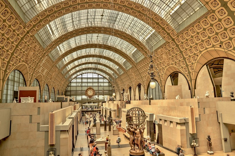 Musée d'Orsay museum, housed in the former Gare d'Orsay, a Beaux-Arts railway station built between 1898 and 1900