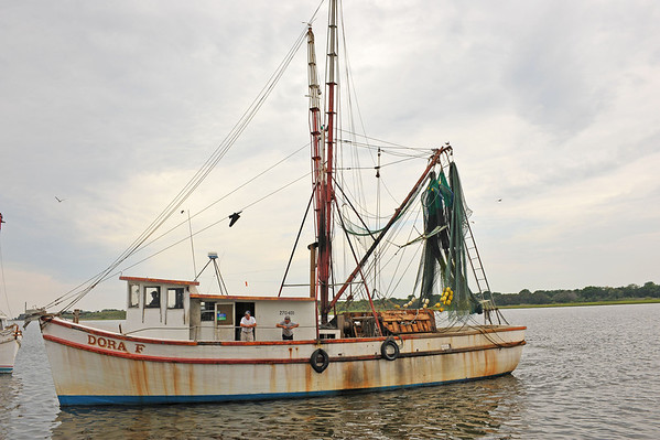 Overhead Obstruction Diving in Shrimp Boats 05-22-12