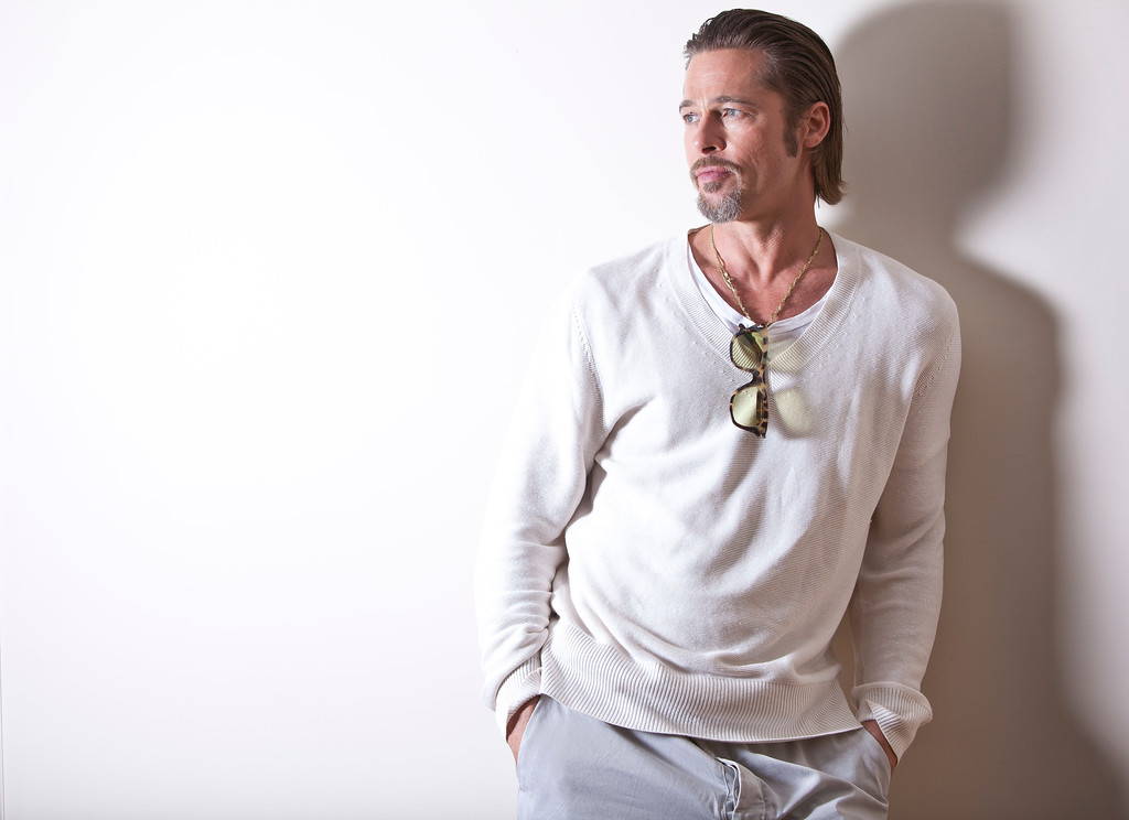 . Actor Brad Pitt poses for portraits during promotion for the film The Tree of Life at the 64th international film festival, in Cannes, southern France, Tuesday, May 17, 2011. (AP Photo/Joel Ryan)