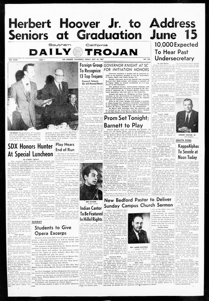 Daily Trojan, Vol. 48, No. 128, May 10, 1957