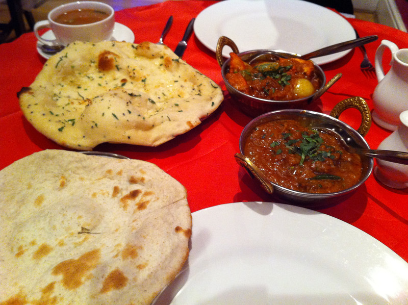 While sightseeing we wandered for miles looking for Xmas dinner. There were very few options so we were fine with Indian food but it turned out to be about 30£ which is about $45 for 2 small dishes