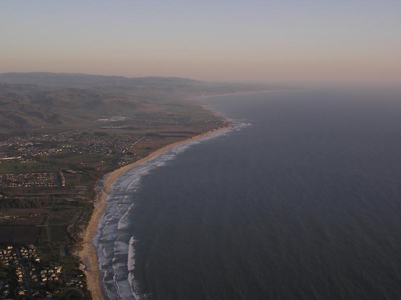 Coastline at Half Moon bay, looking south toward Pescadero Point