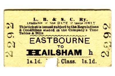 LBSCR 1st class single tickets