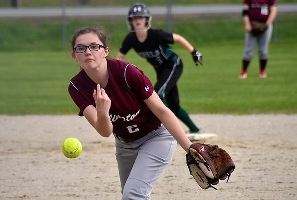 AMHS Varsity Softball vs L & G photos by Gary Baker