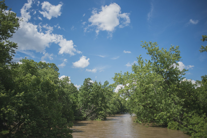 High waters on Little Miami River in Ohio