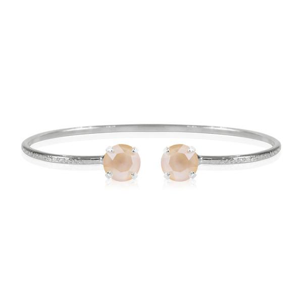 Petite Stud Bracelet / Ivory Cream Rhodium