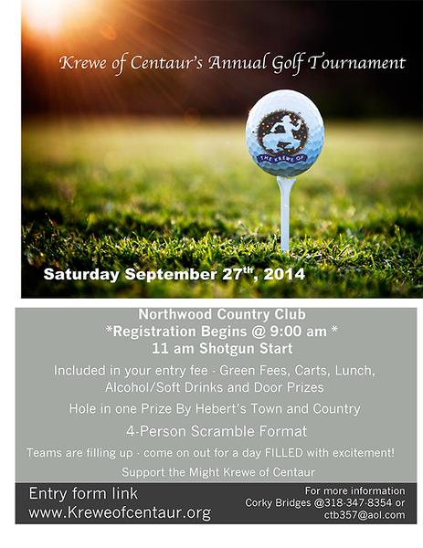 2014 - 09-27- Krewe Of Centaur Golf Tournament