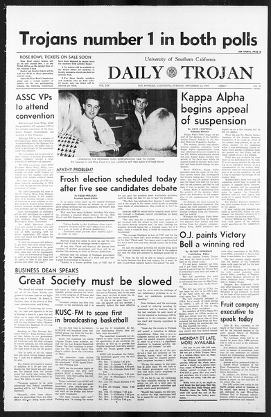 Daily Trojan, Vol. 59, No. 45, November 21, 1967