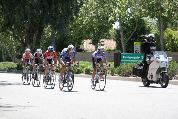 Tour of California Bike Race on Westlake Bl