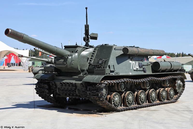 Самоходная артиллерийская установка ИСУ-152М (ISU-152M self-propelled artillery)