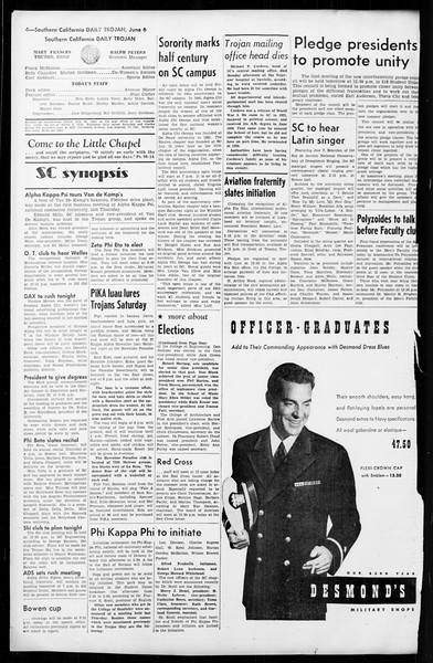 Daily Trojan, Vol. 36, No. 138, June 06, 1945
