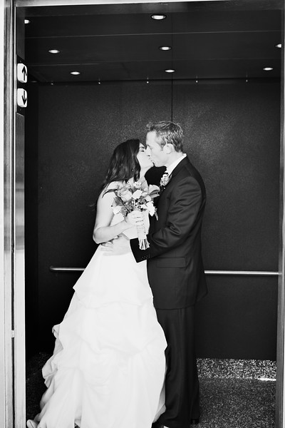 kiss in the elevator