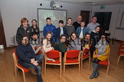 "Pictured are the Cast and Crew from ""Finding Charlotte"" a short film produced by members of Newry Shamrocks Youth Club in Partnership with Reel Works Belfast. R1607006"