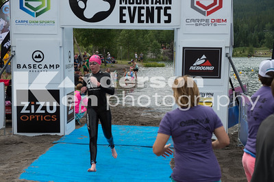 2017 Grizzly Open Water Swim Finish