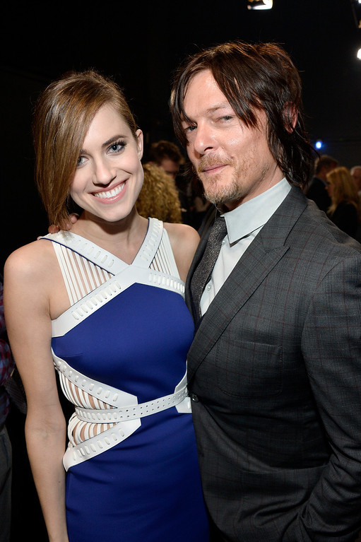 . LOS ANGELES, CA - JANUARY 08:  Actors Allison Williams and Norman Reedus attend The 40th Annual People\'s Choice Awards at Nokia Theatre L.A. Live on January 8, 2014 in Los Angeles, California.  (Photo by Frazer Harrison/Getty Images for The People\'s Choice Awards)