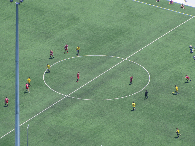 Soccer field from SkyPark, 20X telephoto