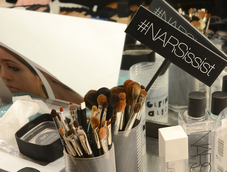 . A general view of atmosphere backstage at Tanya Taylor -  Mercedes-Benz Fashion Week Fall 2014 at Industria Studios on February 7, 2014 in New York City.  (Photo by Vivien Killilea/Getty Images)