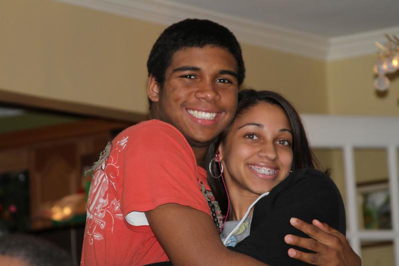 l-r Cousins Javan and Alexa
