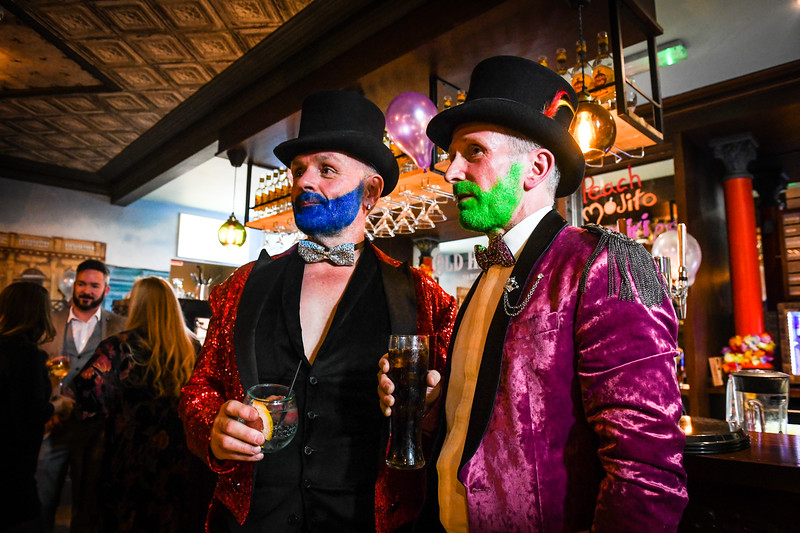 Swansea,6th Feb, 2019 The launch of the Mark Jermin Hit the Dance Floor, Swansea Pride event at Old Havana, Swansea.  Pictured are Alan (left) and Charles Bevan-Barratt.
