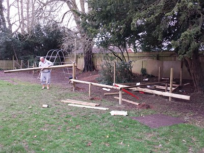 Work on school adventure playground