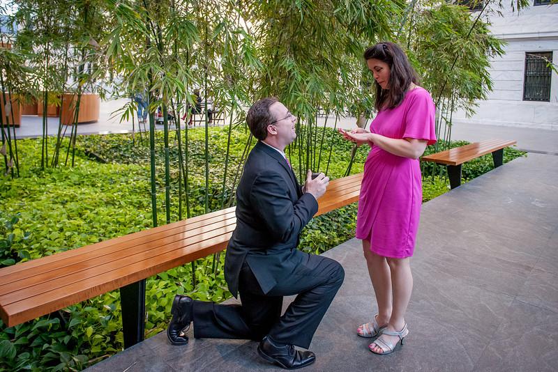 Mathew & Janet Surprise engagement/ Art Museum